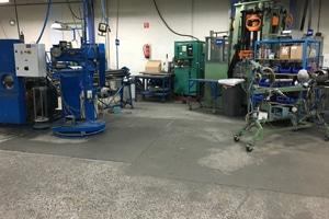 Slechte betonnen vloer