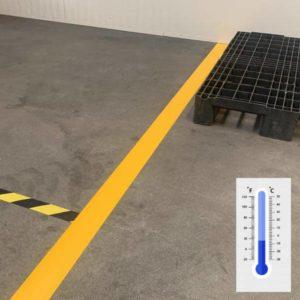 Vloertape en markeringstape koude Omstandigheden magazijn en werkplaats vloer