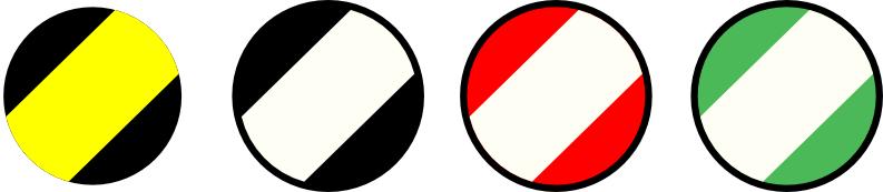 Waarschuwingstape Duurzaam Rood/wit Geel/zwart
