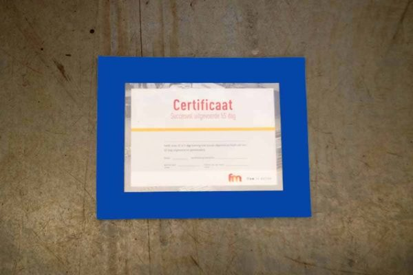 Vloervenster documenthouder insteekhoes A4 blauw