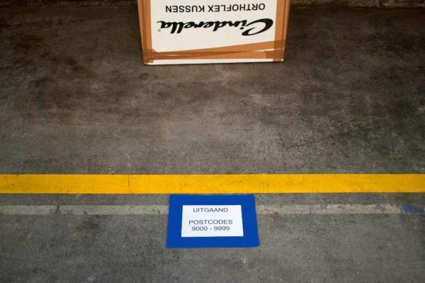 Vloervenster documenthouder insteekhoes A5 blauw