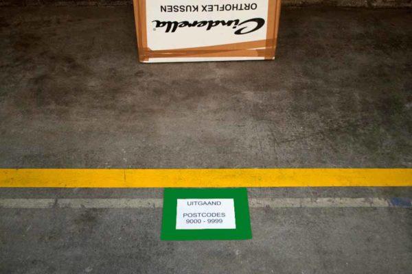 Vloervenster documenthouder insteekhoes A5 groen