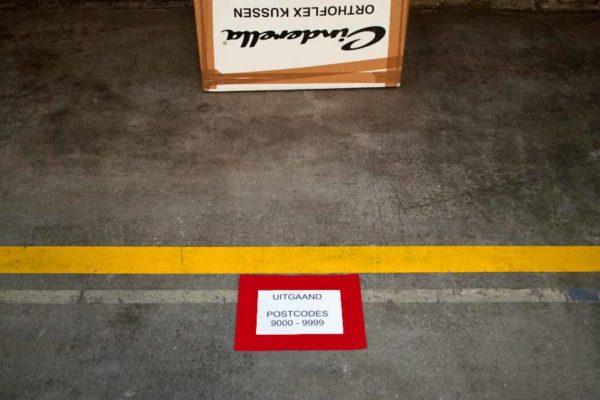 Vloervenster documenthouder insteekhoes A5 rood