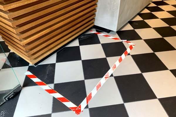 PVC tape corona houd afstand tape