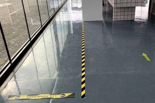 Top kwaliteit corona tape zwart geel