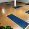 Yoga Mat tussen Lijnen met sportschool vloertape
