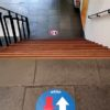 stickers looprichting corona eenrichtingsverkeer corona kantoor inrichten en kantoorinrichting