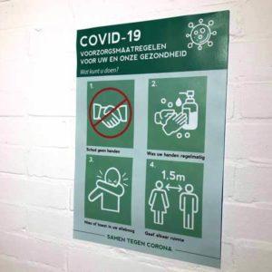 corona maatregelen poster