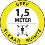 Stickers 1,5 meter afstand Geef Elkaar Ruimte