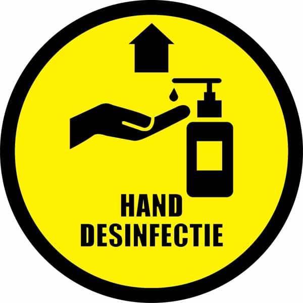corona sticker vloersticker handen desinfecteren verplicht