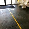 Beste kwaliteit markeringstape voor coronamaatregelen; houd afstand tape geel