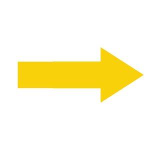 Vloerstickers pijlen corona stickers looprichting pijl intensief gebruik