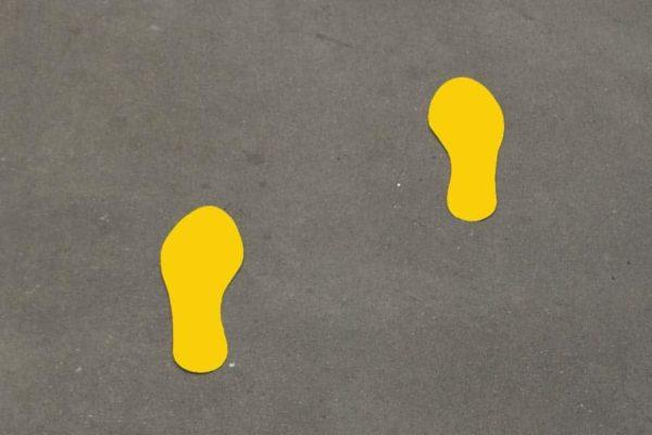 voetstappen vloerstickers sticker
