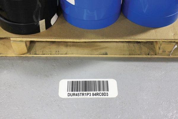 bedrukte vloermarkering barcode vloersticker magazijn