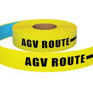 Bedrukte vloermarkeringstape AGV Route Geel