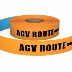 Bedrukte vloermarkeringstape AGV Route Oranje