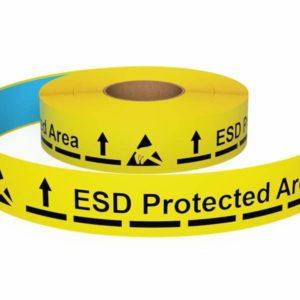 Bedrukte vloermarkeringstape ESD Uitgeschreven pijl