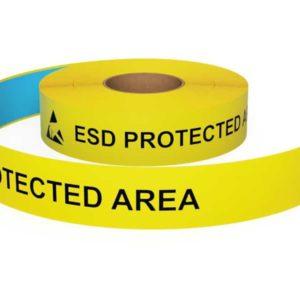 Vloermarkeringstape ESD Protected Area Pijlen