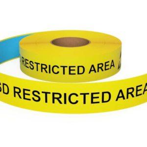 Vloermarkeringstape ESD Restricted Area