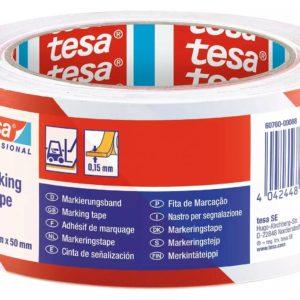 Waarschuwingstape Tesa Markeringstape Rood/Wit