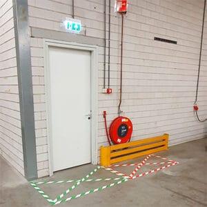 Waarschuwingstape groen/wit