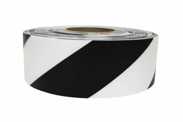 Waarschuwingstape zwart wit markeringstape