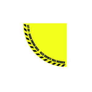 Vrijhouden deur kwart vloersticker