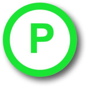 Wegwijzer parkeerplek parkeren bord vloersticker