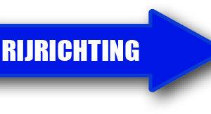 Rijrichting blauw rechts sticker bord