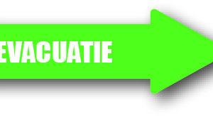 Evacuatie groen rechts sticker bord