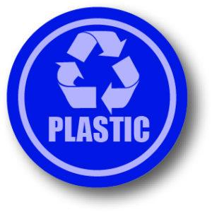 Recycle plastic bord