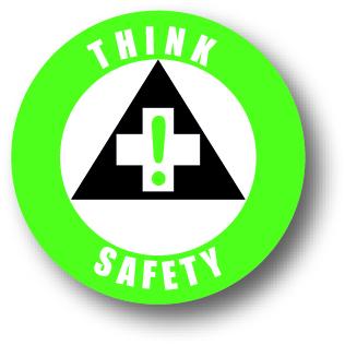 Denk veiligheid bord