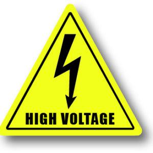 Waarschuwingsbord stroom hoog voltage