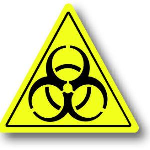 Biologisch gevaar waarschuwingsbord