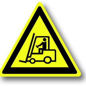 Waarschuwingsbord heftruck rijdend materieel