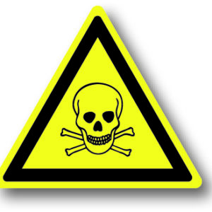 Waarschuwingsbord giftige stoffen