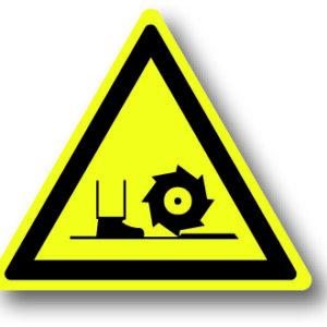 waarschuwingsbord gevaar voor draaiende delen