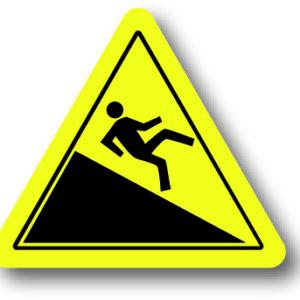Uitglijgevaar waarschuwingsbord