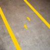Voetstappen voor looppaden geel