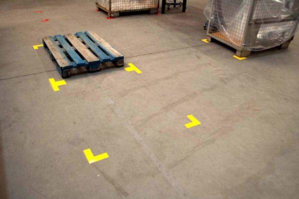 Durastripe L hoek rechthoekig normaal geel