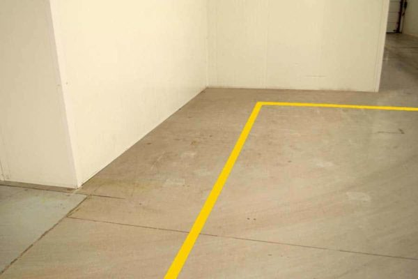 vloer markeringstape magazijn en werkplaats belijning